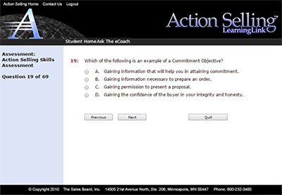 assessment - Action Selling Differentiators: #5 Validated Skills Assessments