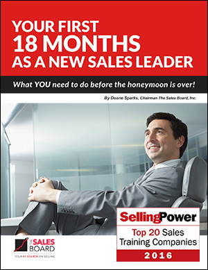 18 mos sp - Landing: Your First 18 Months As A New Sales Leader Whitepaper | Selling Power
