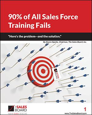 90 percent fails thumb - Landing: 90% of All Sales Force Training Fails Whitepaper